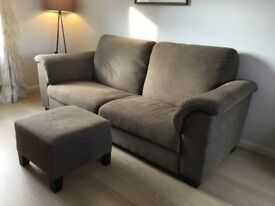 3 and 2 seater Tidafors Ikea sofas with footstool
