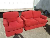 Red fabric two and one suite