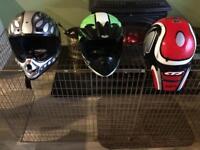 Kids motor helmet