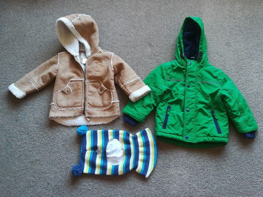 733211f50 Baby boy warm coats 12-18 months + Hat