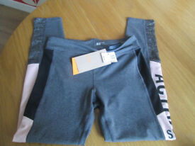 GIRLS BNWT ON-TREND SPORTS LEGGINGS - AGE 10-12