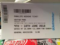 Park life weekend tickets 2018