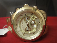 Michael Kors Men's MK8077 'Classic' Chronograph Gold-Tone Stainless steel Watch like new!