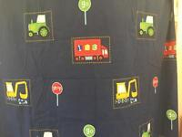 Single duvet cover with tractor digger lorry