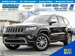 2014 Jeep Grand Cherokee 4WD 4dr Limited *Leather Seats, Bluetoo