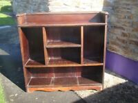 Vintage bookcase, measures approx 40 inches high x 41 wide x 12 deep