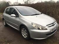 PEUGEOT 307 RAPIER 5 DOOR 2003 SILVER ALLOYS LONG MOT VERY CLEAN INSIDE AND OUT BARGAIN
