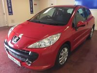 08 PEUGEOT 207 M:PLAY EDITION , LOW INSURANCE LOW RUNNING COSTS , IDEAL FIRST CAR LOVELY TO DRIVE .