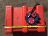 Auxiliary fuel tank for boat car etc. Diesel or petrol