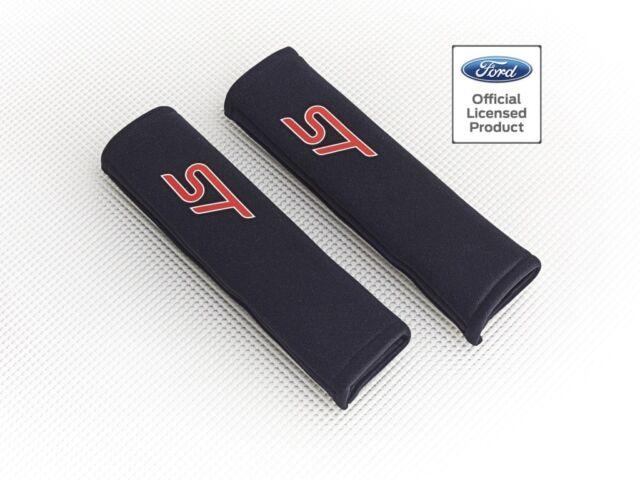Richbrook 'Licensed' Ford ST Logo Seat Belt Shoulder Pads / BLACK Padded Harness