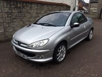 2005 PEUGOET 206cc 1.6 CABRIOLET, FULL HISTORY, NEW MOT. LOVELY CONDITION.