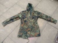 Camouflage army jacket coat