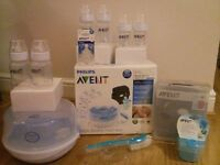 Avent Philips Bottle Feeding Essentials Steriliser, Feeding Bottles NEW