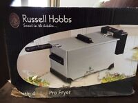 NEW IN ORIGINAL BOX Russell hobb Satin Pro 4 litre Fryer - £20