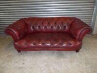 Oskar Chesterfield Full Hide Leather 3-seater Sofa (Suite)