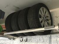 Set of 4 Alloy Wheels with Winter Tyres (Run Flat)