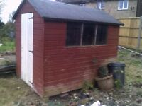 8ft x 6 ft shed.