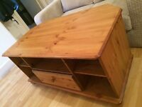 @@EXTRA LARGE PINE TV CABINET WITH DRAWER@@
