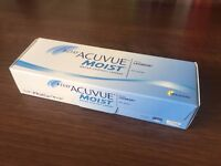 Daily Acuvue Moist Contact Lenses -5.00 and -5.75