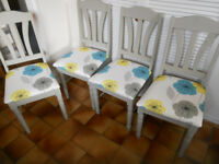 Set of Four Kitchen or Dining Chairs