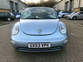 VW BEETLE 1.6 CONVERTIBLE CABRIOLET 2003 Low Milage