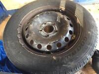 Vauxhall Vivaro spare wheel and tyres