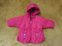 Baby Girl 3-6 mths NEXT warm red hooded coat