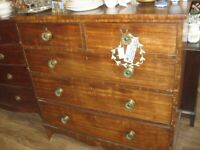 ANTIQUE GEORGIAN LARGE CHEST OF DRAWERS. IDEAL IN ANY ROOM