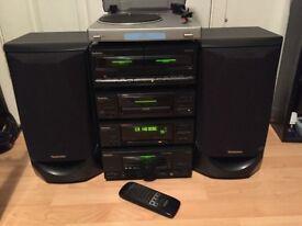 Technics SC-EH50 mini Hi-Fi separates stereo inc Bush MTT1 turntable.