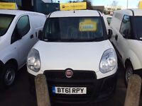 NEW SHAPE FIAT DOBLO VAN 1.3MJET 2012/61 REG 3 MONTH WARRANTY £2999 PLUS VAT