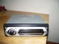 RADIO/CD PLAYER IN BLACK AND SILVER CLIP OFF FRONT ONLY 6 MONTHS OLD