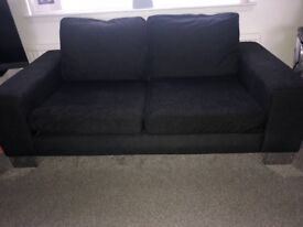 Charcoal Grey 3 and 2 Seater Sofas -free for collection