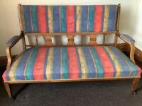 Edwardian rosewood salon sofa