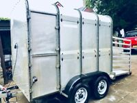 Ivor Williams Livestock Trailer 8ft by 5 very good used condition. New brakes and tyres £1300 ono