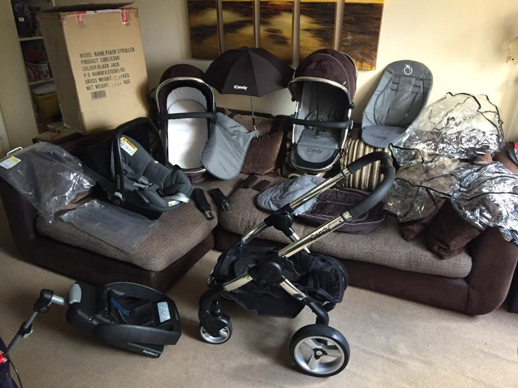 STUNNING Icandy PEACH TRAVEL SYSTEM 4-in-1 with lots of Extras RRP £1200