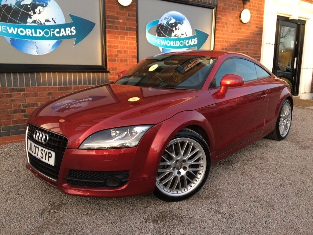 audi tt 3 2 v6 coupe 3dr petrol manual quattro 247 g km 247 bhp red 2007 in rugby. Black Bedroom Furniture Sets. Home Design Ideas