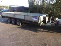 Ifor Williams 14ft tri axle trailer complete with sides and ramps
