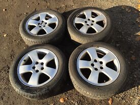 """For sale - Audi A3 16"""" alloy wheels - good tyres"""