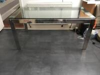 John Lewis Glass and Chrome Dining Table