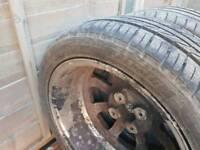2 part worn tyres, 16 inch off peugeot 206.