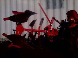 Single furrow reversable plough fits 16hp tractor