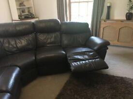 Reclining Leather Corner Sofa