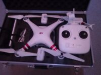 DJI phantom 3 standard with 3 batteries and authentic alloy hard case