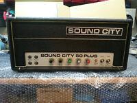 Sound City 50 Plus mk4 Custom - Retro 50 watt Amp Head