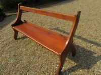 OLD PINE CHURCH PEW. Delivery possible, other sizes available. Also benches, chairs & tables