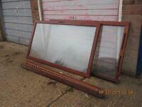 Wooden double glazed patio sliding doors