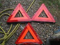 hazard warning triangle audi + saab + alfa romeo