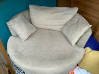 NEXT love/cuddle 360 swivel chair. Removable covers machine washable. More details below thanks 😊