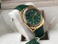 ROLEX DAY-DATE - SWISS 2836 ETA - GREEN LEATHER STRAP