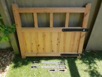 Wooden Gate with 4 x Hook and Band Metal Gate Hinges